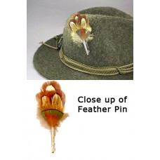 German Feather  ' Hat Pin '
