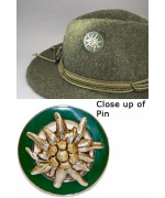 German Edelweiss ' Hat Pin '