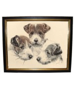 Kurt Meyer-Eberhardt 'Three Young Fox Terriers' - TEMPORARILY OUT OF STOCK