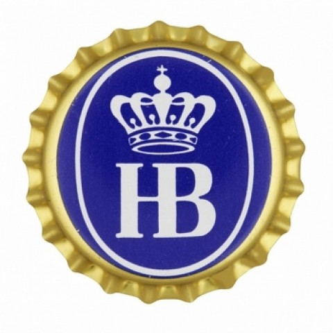 TEMPORARILY OUT OF STOCK - Hofbrauhaus  Gold Bottle Cap  Magnet