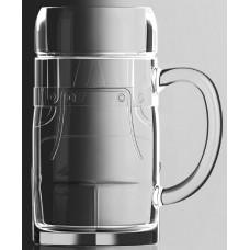 Glass Lederhosen 0.5 L Beer Stein