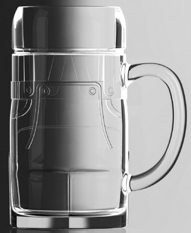 Glass Lederhosen 0.5 L Beer Stein