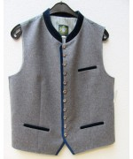 German Men's Vest Hammerschmid - Blue Trim