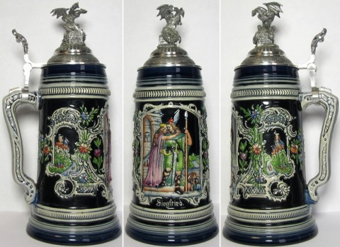 Siegfried the Dragon Slayer 1 L Beer Stein