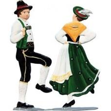 Bayrisches Tanz Paar Standing Pewter Wilhelm Schweizer