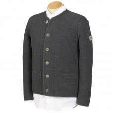 TEMPORARILY OUT OF STOCK - German Men's Knit Jacket Grasegger - Grey
