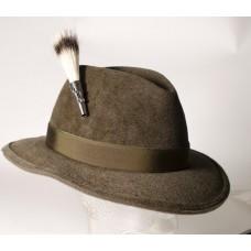 German Wild Badger Beard Brush Hat Pin - TEMPORARILY OUT OF STOCK