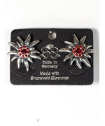 Octoberfest / Oktoberfest Swarovski Ruby Earrings Pierced