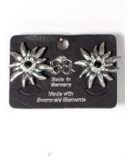 Edelweiss Swarovski Pierced Earrings