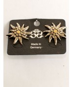 TEMPORARILY OUT OF STOCK - Octoberfest / Oktoberfest Jewelry Edelweiss Earrings