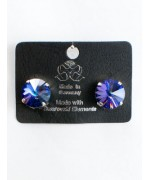 Violet Starburst Swarovski Crystal Clip-On Earrings