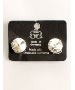 Clear Swarovski Crystal Clip-On Earrings