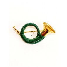 German Hatpin Hunt horn Jagdhorn - TEMPORARILY OUT OF STOCK
