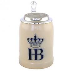 Hofbrauhaus German Beer Mug - Beerstein  with Tin lid - 0.5 Liter-