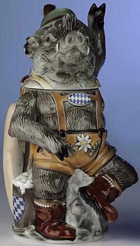 """Oktoberfest Beer Stein Bavarian Male Boar """"Max"""" 1 L - FD"""