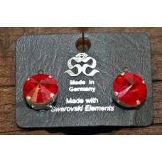 Ruby Red Swarovski  Clip On Earrings