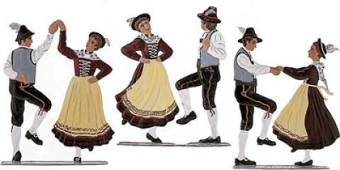 Bayrische Tanz Gruppe Standing Pewter Wilhelm Schweizer