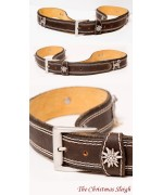 Hounds & Edelweiss  Leather Belt