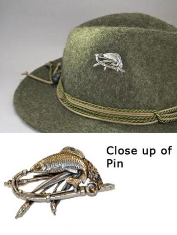 German Fish Hat Pin