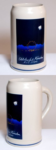 TEMPORARILY OUT OF STOCK <BR><BR>  The Official Munich Oktoberfest-Stein 2004 Beerstein - 1,0 Liter<