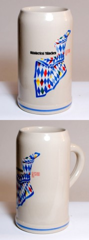 The Official Munich Oktoberfest-Stein 1993 Beerstein - 1,0 Liter