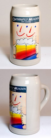 The Official Munich Oktoberfest-Stein 1992 Beerstein - 1,0 Liter