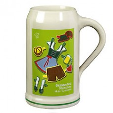 The Official Munich Oktoberfest 2010 Beerstein - 1.0 Liter -TEMPORARILY OUT OF STOCK