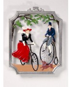 Bicycle Riding Window Wall Hanging Wilhelm Schweizer