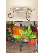 Williamsburg Pewter Bowl & Stand