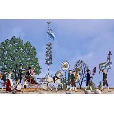 Bayrischer Hochzeitszug Wedding Parade Standing Pewter Wilhelm Schweizer