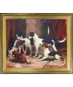 Portrait of Favorite Foxhounds'