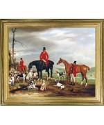 Huntsmen with Horses & Hounds'