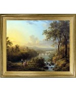 TEMPORARILY OUT OF STOCK <BR><BR> 'River w/ Children Fishing'