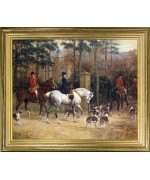 Hunting Scene - Outside The Manor