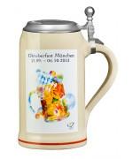 The Official Munich Oktoberfest 2013 Beerstein with Tin Lid 1 Liter
