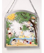 Summer Time Window Wall Hanging Wilhelm Schweizer