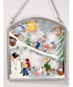 Winter-time Window Wall Hanging Wilhelm Schweizer