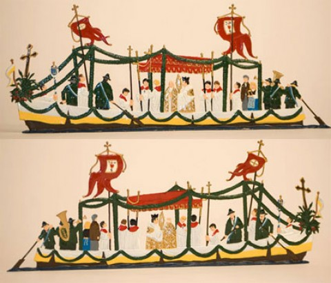 Prozessionsschiff' Standing Pewter Wilhelm Schweizer