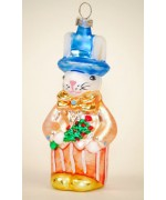 Mouth Blown Glass Ornament 'Boy Rabbit'