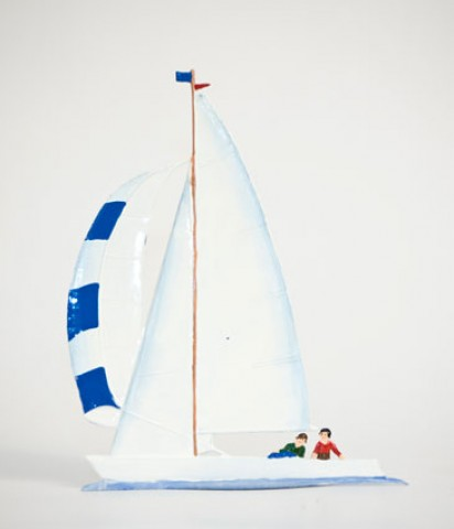 TEMPORARILY OUT OF STOCK - Sailboat Drachen Standing Pewter Wilhelm Schweizer