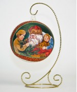 TEMPORARILY OUT OF STOCK <BR><BR>  Mouth Blown Glass Ornament 'Santa with Children'