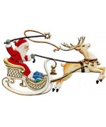 Santa and Sleigh Christmas Pewter Wilhelm Schweizer