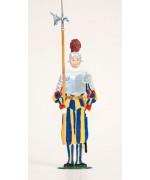 Swiss Guard' Standing Pewter Wilhelm Schweizer