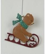 Baer auf Schlitten Hanging Ornament Wilhelm Schweizer