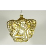 Artglass Ornament 'Gold Angel'