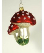 Artglass Ornament 'Mushrooms'