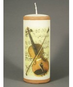 TEMPORSRILY OUT OF STOCK  Borgsmueller 'Violin' German Candle