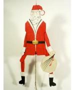 Oberammergauer Hampelmann Pulltoy Santa Claus