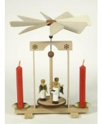 TEMPORARILY OUT OF STOCK - Pyramide Engel Erzgebirge Wooden Ornament