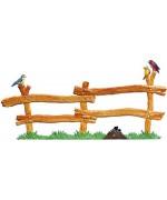 Wilhelm Schweizer Easter Ostern Pewter Wooden Fence